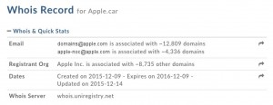 apple.car Domain Registrierung